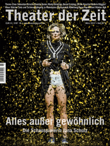 Cover Theater der Zeit Heft 3 2017