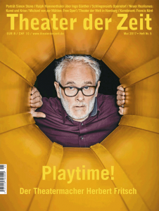 Cover Theater der Zeit Heft 05/2017