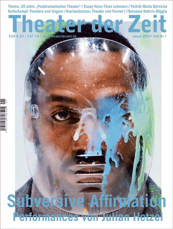Cover Theater der Zeit Januar 2020