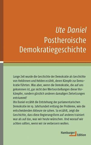 Cover Ute Daniel, Postheroische Demokratiegeschichte