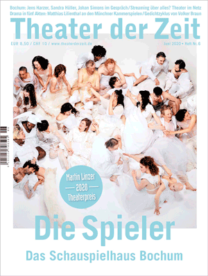 Cover Theater der Zeit 06, 2020